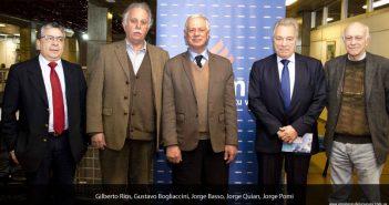 Dr. Gustavo Bogliaccini, Presidente de CASMU;  Dr. Jorge Basso Garrido Ministro de Salud Pública;  Dr. Jorge Quian, Director General de Salud.